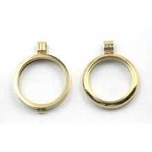 18k Gold überzogene runde Locket für Halsketten-Anhänger