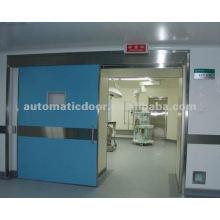 Puerta corredera hermética azul