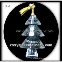 Árvore de Natal de cristal K9 banhado a ouro