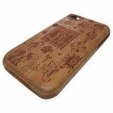 Cool Wooden Case for iPhone/Washable Material for Easy-to-clean, Special Design, Extremely Durable