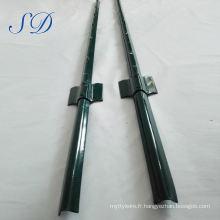 Poteau de clôture en U de haute qualité en acier de 8 pi