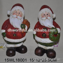 Ceramic Santa Clause for 2016 Christmas holidays