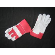 Red Cow Split Leather Gant de travail complet de palme-3056.03