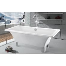 Antigua bañera de acrílico de pies de garra con patas (jl620)