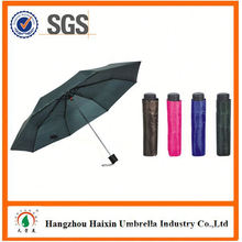 OEM/ODM Factory Supply Custom Printing three section manual open umbrella