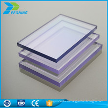 Fácil instalación sólida policarbonato PC toldo hoja precio