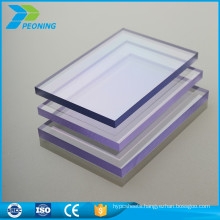 Easy installation solid polycarbonate pc awning sheet price
