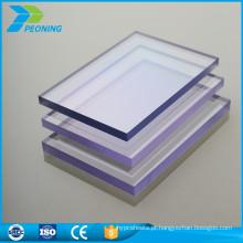 Fácil instalação de policarbonato sólido pc folha de toldo preço