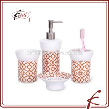 S / 4 accessoires de salle de bains en porcelaine à usage domestique