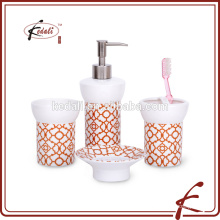 S/4 porcelain bathroom accessories for home use