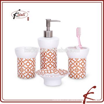 S / 4 Porzellan Badezimmer Zubehör für den Heimgebrauch