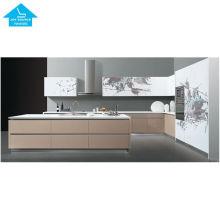 modern modular MDF MFC customized folding kitchen cabinet