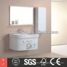 2013 Latest bathroom furniture white High Gloss bathroom furniture white
