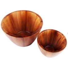 Creative Wooden Trough Bowl Solid Wood Salad Bowl Pickles Bowl for Soup Noodles Fruit