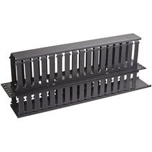 "2u 19"" Plastic Dual-Sided Rack Mount Horizontal Cable Manager"