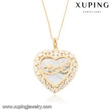 32684 colgante de collar de joyería de moda cubic zirconia en forma de corazón
