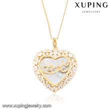 32684 Fashion Cubic Zirconia Jewelry Necklace Pendant in Heart-Shaped