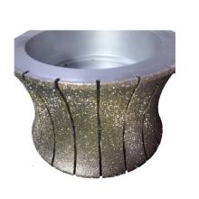Usine de porcelaine de 300mm plaqué diamant meule pour l'asphalte