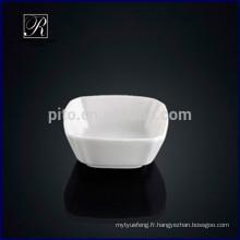 P & T chaozhou usine de porcelaine, soucoupe carrée, plats carrés