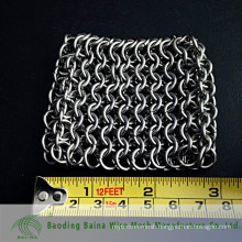 2015 alibaba china manufacture 7mm Extra Large Chain Mail Scrubber for Cast Iron