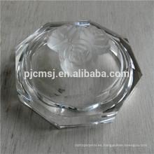 Lovely Circle Crystal Jewerly Box para decoración, caja de cristal