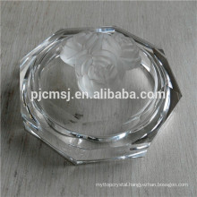 Lovely Circle Crystal Jewerly Box for Decoration, crystal box