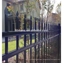Painel de cerca de jardim de alumínio preto composto