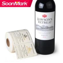 Пользовательская самоклеящаяся наклейка для бутылки вина