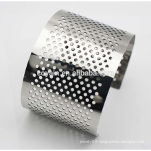 Fashion Lady Stainless Steel Bangle Heavy Cuff Bracelets