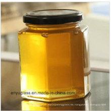 Tarro de vidrio de 400 ml para almacenamiento de miel, alimentos, salmuera, botellas de vidrio