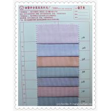 Tissu à rayures colorées en poly coton