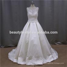 Алибаба одно плечо оборками переливчатого атласа свадебное платье