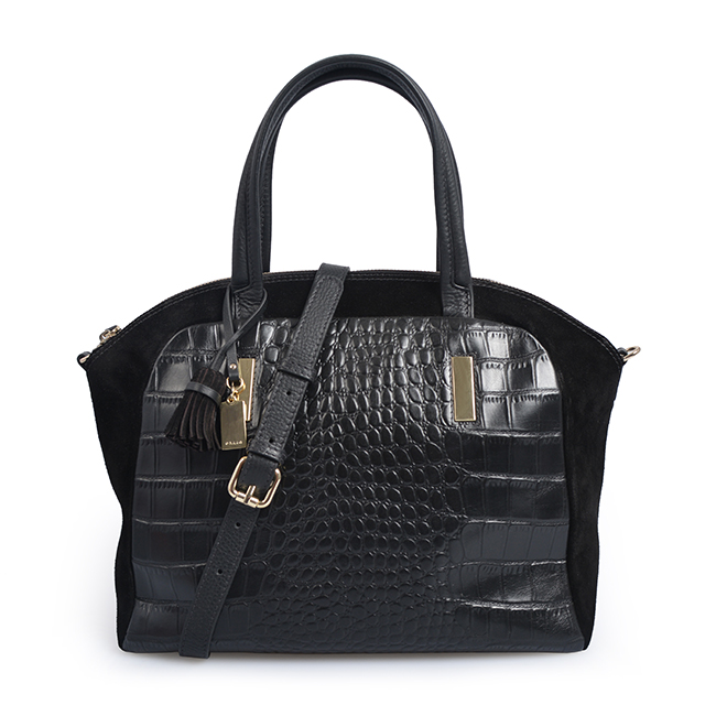 Female Crossbody Shoulder Two-color stitching crocodile handbag
