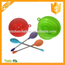 Multi-función de alta calidad de silicona mezcla cuchara
