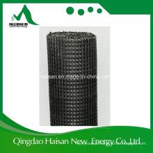 Poliéster biaxial de confecção de malhas Geogrid da urdidura 100kn / M com revestimento do PVC