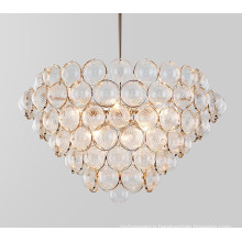Wholesale Decorative Round Gold Luxury Modern Crystal Pendant Chandelier