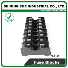 FS-018B Schalttafelmontage Midget Typ 600V 8 polig 6x30 10A Sicherungshalter