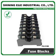 FS-018B Soporte de fusible montado en panel tipo midit 600V 8 polos 6x30 10A