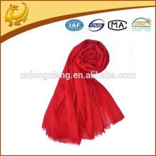 Super weiche Übergabe Qualität 100% Wolle Damen Mode Schals mit Quaste