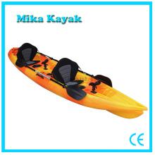 Canoa doble del plástico de los barcos de pesca del kajak