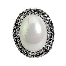 Moda rodada pérola bead para colar pulseira acessório jóias