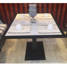 High End Solid Surface Quartz Marble Stone 5 Star Hotel Dining Tables