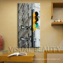 Abstract London Traffic Light Wooden Canvas Art