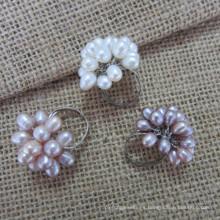 Anillo de perlas de agua dulce (rng121003)