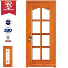 Portes de verre en bois MDF, porte de cuisine composée de qualité ou portes de salle de bains
