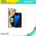 Protecteur d'écran iCheckey 2016 0.2mm 3D aux contours incurvés pour Samsung Note 7 en verre trempé bleu