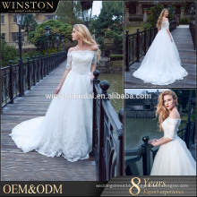 New Luxurious High Quality wedding dress princess wedding dresses lace sleeves