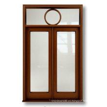 Puerta de cristal de puerta de madera maciza exterior