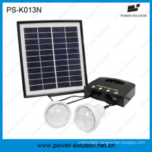 4W Portable Solar Emergency Light Kit with USB Solar Phone Charger