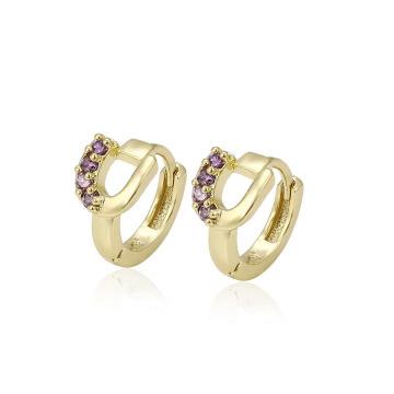 28621 boucles d'oreilles créoles pour femmes en zircon synthétique de la mode vente chaude xuping fashion 14k